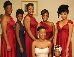 RHODA WALKER AND HER BRIDAL PARTY IN NOVEMBER 2014 AT PANTAGIS RENAISSANCE  IN SCOTCH PLAINS