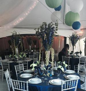 IT WAS A BEAUTIFUL DAY FOR SHADES OF BLUE AND GREEN  AT THIS UPSCALE  BACKYARD WEDDING IN LITTLE FALLS, NJ SEPTEMBER 2015