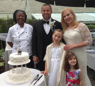 SUNDAY, MAY 22, 2016 IN POMPTON LAKES EVERYTHING WAS BEAUTIFUL: BRIDE, GROOM AND GUESTS. IT WAS MY PLEASURE TO CATER YOUR WEDDING